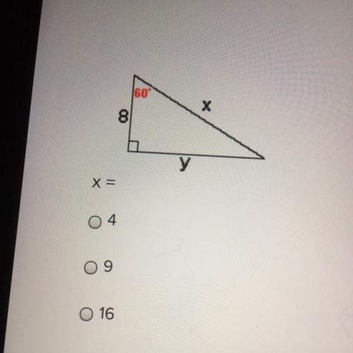 What is x and y when the angles are 90,60 and 30 and the right angle side is 8?