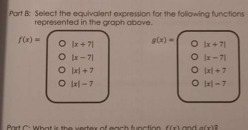 Porte select the equivalent expression for the following functionsrepresented in the graph abo