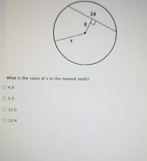 What is the value of x to the nearest tenth