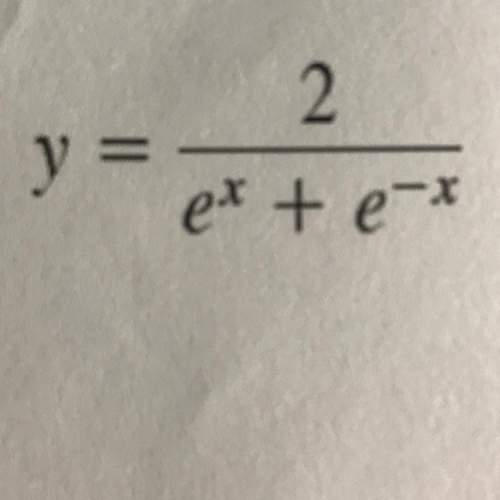 The answer is supposed to be -2(e^x - e^-x)/(e^x + e^-x)^2 but i'm not sure how to get there because