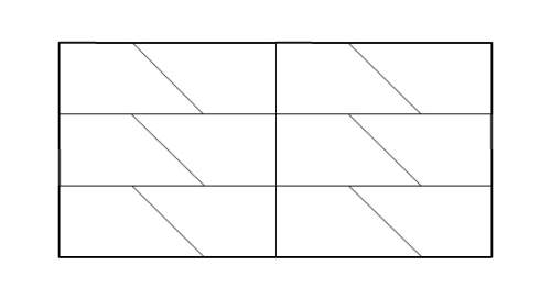 Asection of a tessellated plane is shown. which type of symmetry does the tessellated plane have?